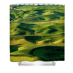 Palouse Contours Shower Curtain by Mike  Dawson
