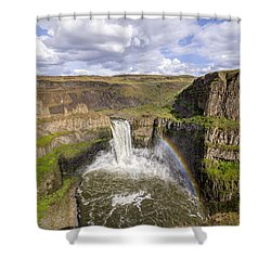 Shower Curtain featuring the photograph Palouse Falls by Albert Seger