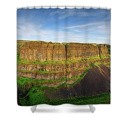 Palouse Falls Canyon Shower Curtain