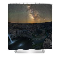 Palouse Falls Milky Way Galaxy  Shower Curtain