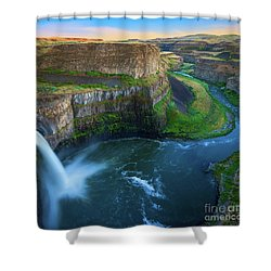 Palouse Falls Pool Shower Curtain by Inge Johnsson