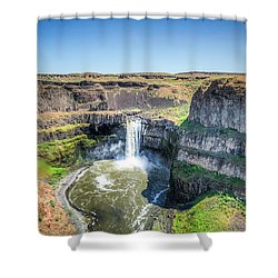 Palouse Falls Shower Curtain by Spencer McDonald