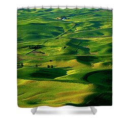 Palouse Morning Shower Curtain by Mike  Dawson