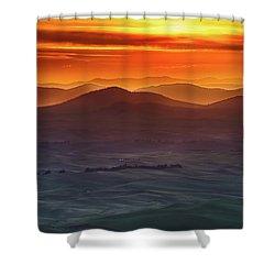 Palouse Sunrise  Shower Curtain by Ronald Spencer