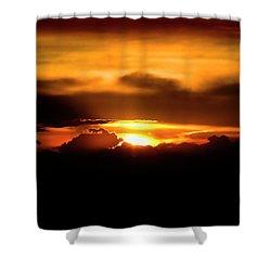 Palouse Sunset Shower Curtain by David Patterson