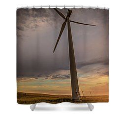 Palouse Windmill At Sunrise Shower Curtain by Chris McKenna