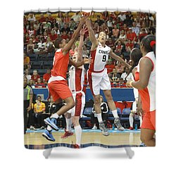 Pam Am Game Womens' Basketball Shower Curtain