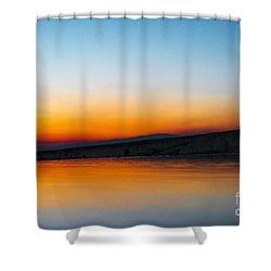 Pammukale Shower Curtain by Yuri Santin