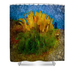 Pampas Grass Shower Curtain by Iowan Stone-Flowers