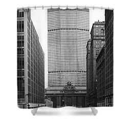 Shower Curtain featuring the photograph Pan Am Building by Granger