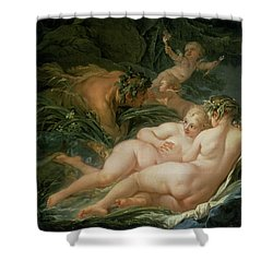 Pan And Syrinx Shower Curtain by Francois Boucher