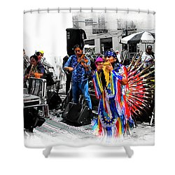 Pan Flutes In Cuenca Shower Curtain by Al Bourassa