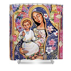 Panagia Eleousa Shower Curtain