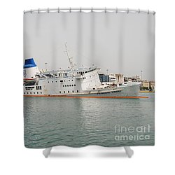 Panagia Tinou Ferry Sinking In Athens Shower Curtain