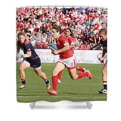Panam Games. Womens' Rugby 7's Shower Curtain