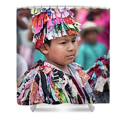 Panamanian Boy In Traditonal Costume Shower Curtain