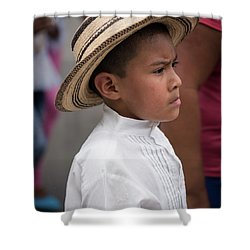 Panamanian Boy Shower Curtain