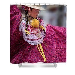Panamanian Dancer 1 Shower Curtain