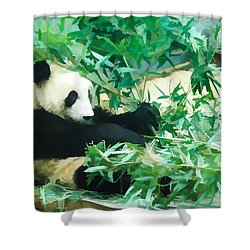 Panda 1 Shower Curtain by Lanjee Chee