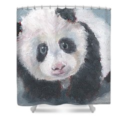 Panda For Panda Shower Curtain by Jessmyne Stephenson