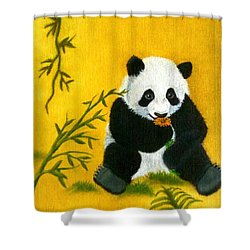 Panda Power Shower Curtain