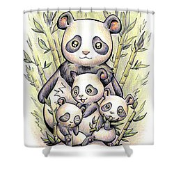 Endangered Animal Giant Panda Shower Curtain