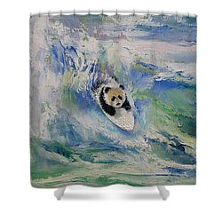 Panda Surfer Shower Curtain