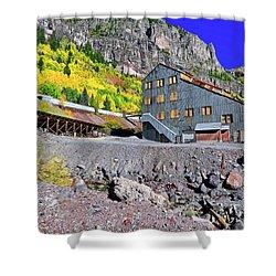 Pandora Mill - Telluride - Colorful Colorado Shower Curtain by Jason Politte