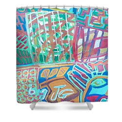 Panel Of Hand Painted Mondeo Shower Curtain