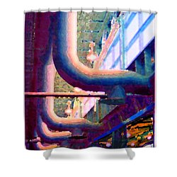 panel one from Star Factory Shower Curtain by Steve Karol