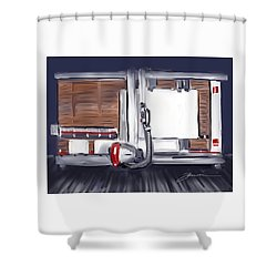 Panel Saw Shower Curtain by Jean Pacheco Ravinski