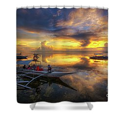 Shower Curtain featuring the photograph Panglao Port Sunset 10.0 by Yhun Suarez