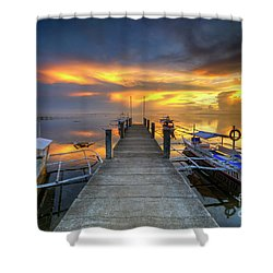 Shower Curtain featuring the photograph Panglao Port Sunset 8.0 by Yhun Suarez