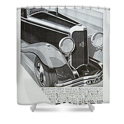 Panhard #8701 Shower Curtain