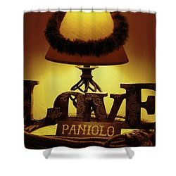 Shower Curtain featuring the photograph Paniolo Love by Pamela Walton