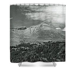 Panorama Alps Switzerland In Black And White Shower Curtain