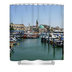 Panorama In Acre Harbor Shower Curtain