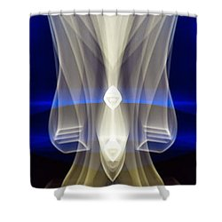 Panorama Light Painting Abstract Ufa 2015 #2 Shower Curtain