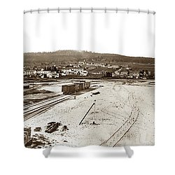 Watkins Panorama Of Monterey, California 1882 Shower Curtain by California Views Mr Pat Hathaway Archives