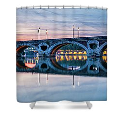 Shower Curtain featuring the photograph Panorama Of Pont Neuf In Toulouse by Elena Elisseeva