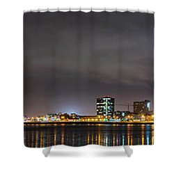 Panorama Of Reykjavik Iceland Shower Curtain
