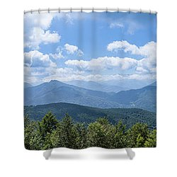 Panorama Of The Foothills Of The Pyrenees In Biert Shower Curtain