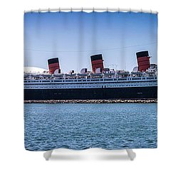 Panorama Of The Queen Mary Shower Curtain