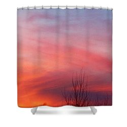 Panorama Sunset  Shower Curtain