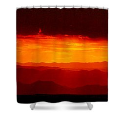 Panorama - Valley Of Fire Sunset 003 Shower Curtain by George Bostian