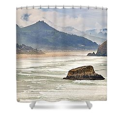 Panoramic Cannon Beach Shower Curtain