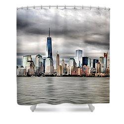 Panoramic New York City Shower Curtain