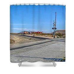 Panoramic Railway Signal Shower Curtain