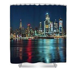 Panoramic Skyline-manhattan Shower Curtain