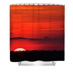 Panoramic Sunset Shower Curtain